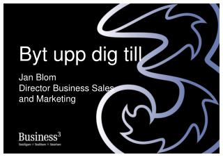Jan Blom Director Business Sales and Marketing