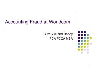 Clive Vlieland-Boddy  FCA FCCA MBA