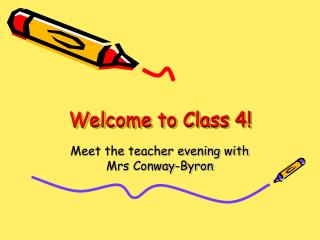 Welcome to Class 4!