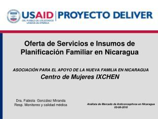 Análisis de Mercado de Anticonceptivos en Nicaragua 03-08-2010