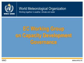 EC Working Group  on Capacity Development Governance