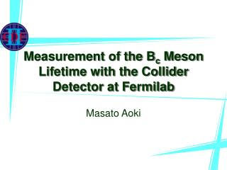 Measurement of the B c  Meson Lifetime with the Collider Detector at Fermilab