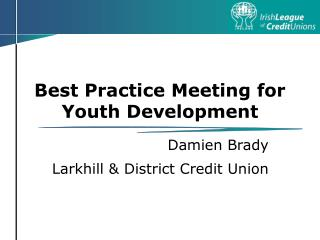 Best Practice Meeting for Youth Development