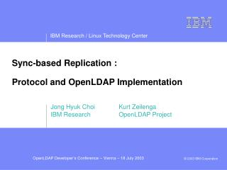 Sync-based Replication : Protocol and OpenLDAP Implementation
