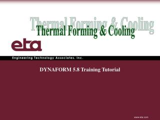 Thermal Forming & Cooling