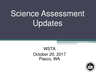 Measurements of Student Progress Science Assessment Update
