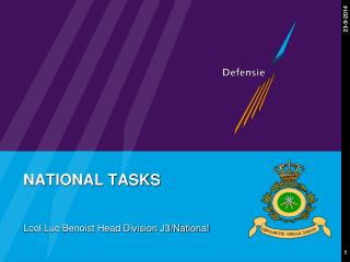 NATIONAL TASKS