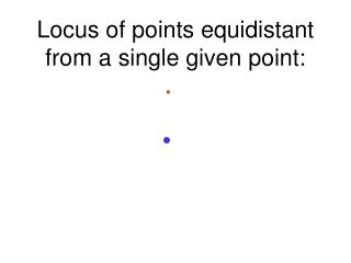 Locus of points equidistant from a single given point: