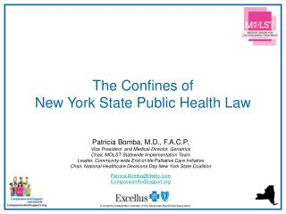 The Confines of  New York State Public Health Law