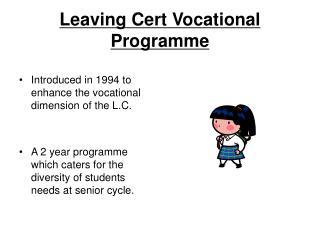 Leaving Cert Vocational Programme