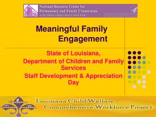Meaningful Family Engagement