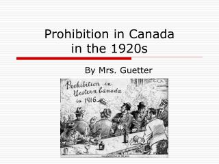 Prohibition in Canada  in the 1920s