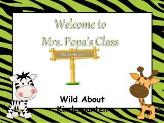 Wild About Kindergarten