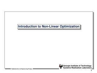 Introduction to Non-Linear Optimization