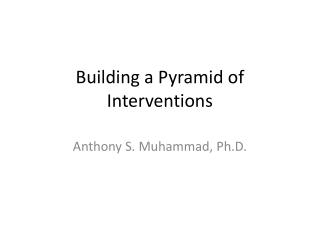 Building a Pyramid of Interventions