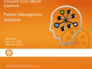 Foxconn ESS March Interlock Partner Management Initiatives