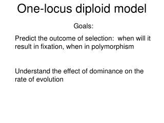 One-locus diploid model