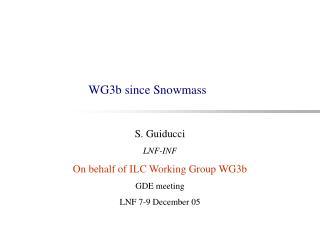 WG3b since Snowmass