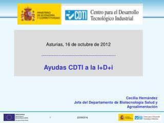 Cecilia Hernández Jefa del Departamento de Biotecnología Salud y Agroalimentación