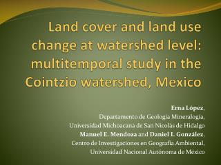 Erna López , Departamento de Geología Mineralogía,
