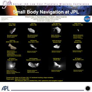 Small Body Navigation at JPL