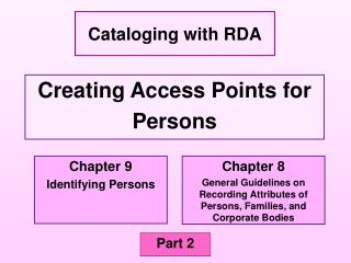 Creating Access Points for  Persons