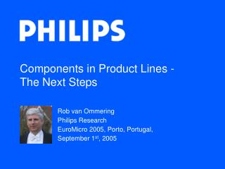 Components in Product Lines - The Next Steps