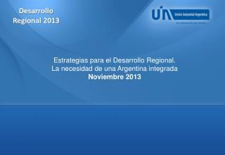 Desarrollo Regional 2013