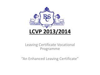 LCVP 2013/2014