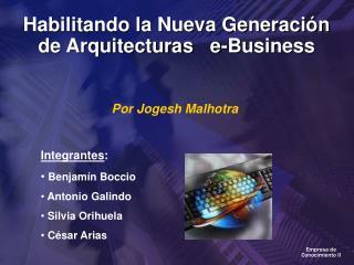 Habilitando la Nueva Generaci n de Arquitecturas   e-Business