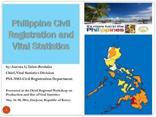 Philippine Civil Registration and Vital Statistics