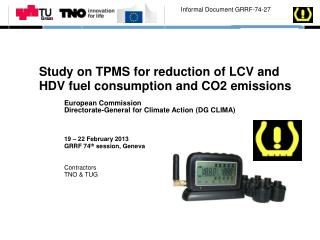 Study on TPMS for reduction of LCV and HDV fuel consumption and CO2 emissions
