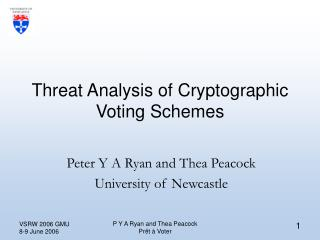 Threat Analysis of Cryptographic Voting Schemes
