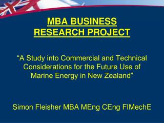 MBA BUSINESS RESEARCH PROJECT