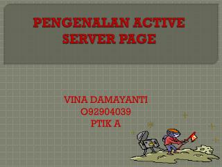 PENGENALAN ACTIVE SERVER PAGE