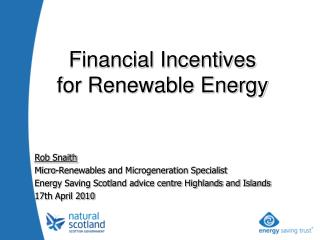 Rob Snaith Micro-Renewables and Microgeneration Specialist