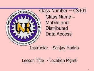 Class Number – CS401