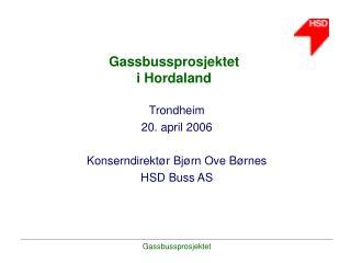 Gassbussprosjektet i Hordaland