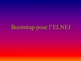 Bootstrap pour l'ELNEJ