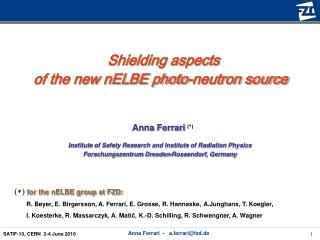 Shielding aspects  of the new nELBE photo-neutron source