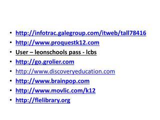 infotrac.galegroup/itweb/tall78416  proquestk12