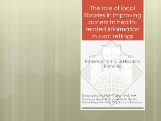 The role of local libraries in improving access to health-related information in rural settings