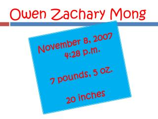 Owen Zachary Mong