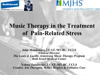 Music Therapy in the Treatment of  Pain-Related Stress