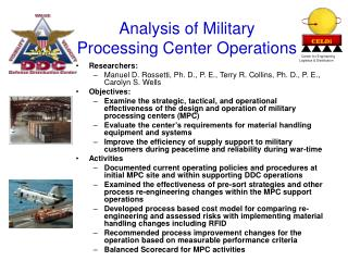 Analysis of Military  Processing Center Operations