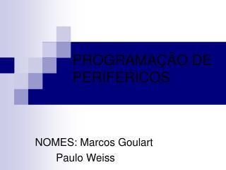 PROGRAMAÇÃO DE PERIFERICOS