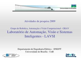 Departamento de Engenharia El�trica � ENE/FT Universidade de Bras�lia - UnB