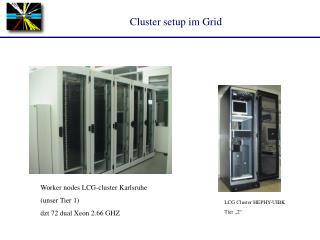 Cluster setup im Grid