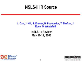 NSLS-II IR Source