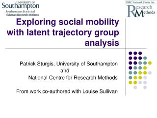 Exploring social mobility with latent trajectory group analysis